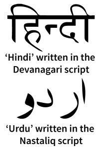 HindiUrdu-scripts