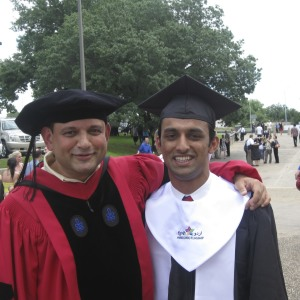 Shan Khan, the first HUF graduate